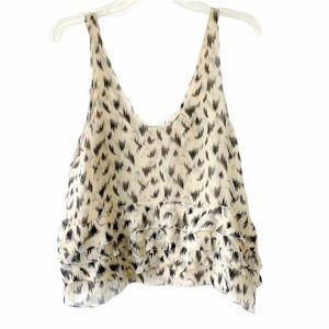 3.1 Phillip Lim silk blouse top cami print scallop
